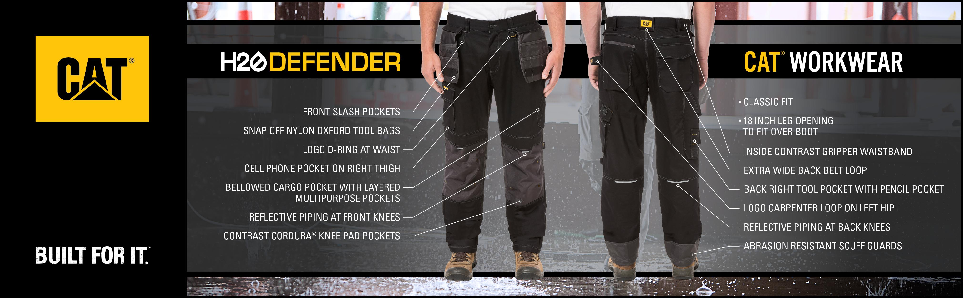 cat caterpillar carhartt dickies pant water resistant stretch fabric  reflective knee pad workwear f404677f08