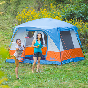 Eureka!; camping tent; 4-person; Room to stand; room to share