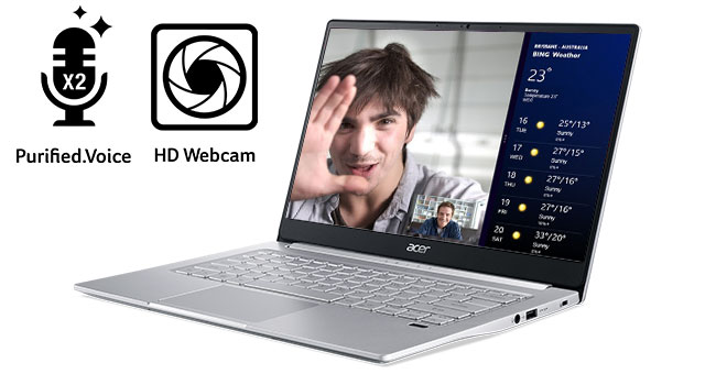 Project Athena Acer Swift 3 SF313-52-52VA Fingerprint NVMe SSD Intel 10th Gen 2256 x 1054
