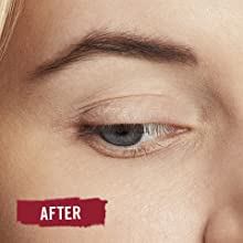 Close-up of woman's face after applying Rimmel Professional Eyebrow Pencil