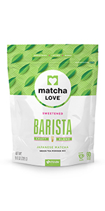 matcha, sweetened, powder, instant, green tea, latte