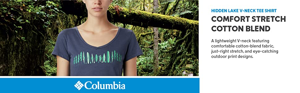 Columbia Women's Hidden Lake V-Neck Tee shirt