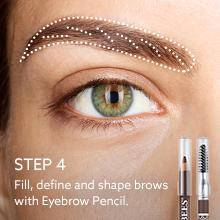 how to apply eyebrow pencil;with brush; fill;shape;define; brows;long lasting; blonde;brunette