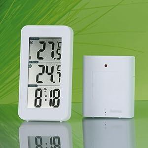 Hama EWS-152 Funk Wetterstation, Funkuhr und Thermometer