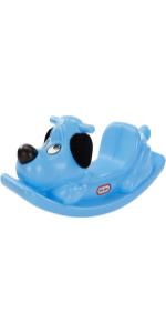 blue ride on rocking dog puppy horse