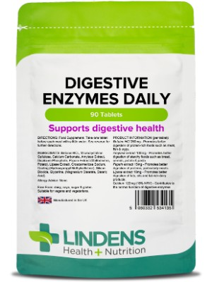 lindens digestive enzymes daily tablets betaine homocysteine metabolism food supplement