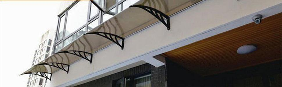"M bo 40""—120"" Window Awning Outdoor Polycarbonate Front"
