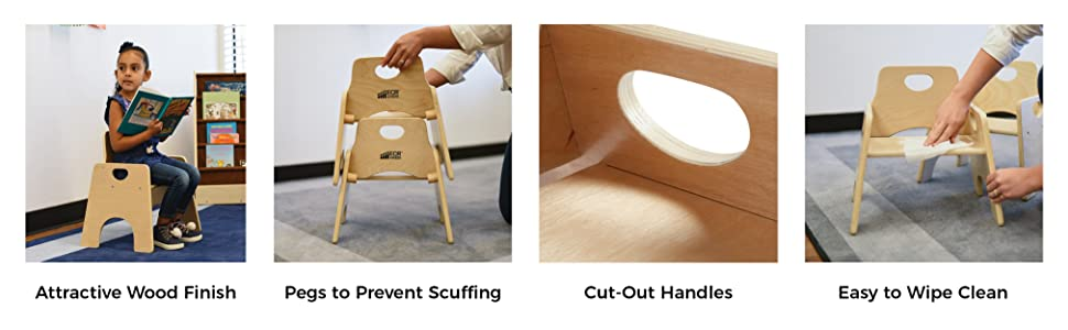 Amazon Com Ecr4kids 10 Quot Stackable Wooden Chair For