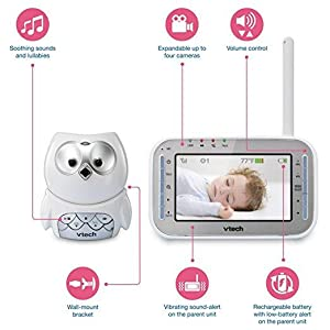 Amazon.com : VTech VM345 Owl Video Baby Monitor with