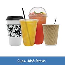 Karat cups,lids and straws