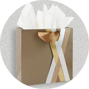 wrapping paper; tissue paper; roll wrap; large gift bag; small gift bag; gift bag with handles
