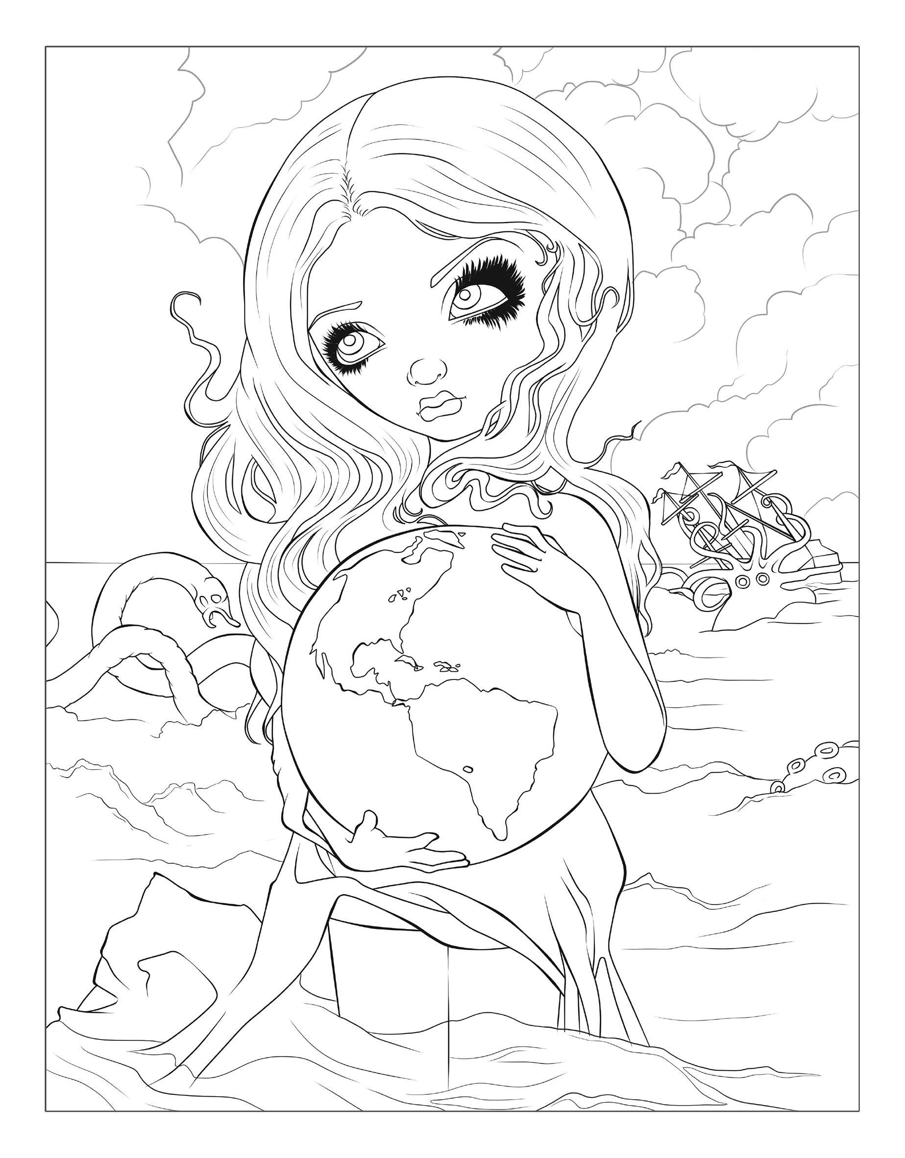 Interior Pages From The Jasmine Becket Griffith Coloring Book View Larger