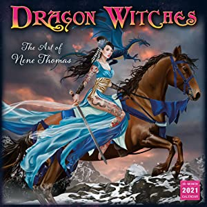 2021 Dragon Witches The Art of Nene Thomas 16 Month Wall Calendar