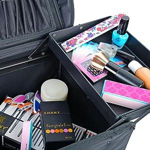 Amazon.com: Estuche de maquillaje blando con carrito SHANY ...