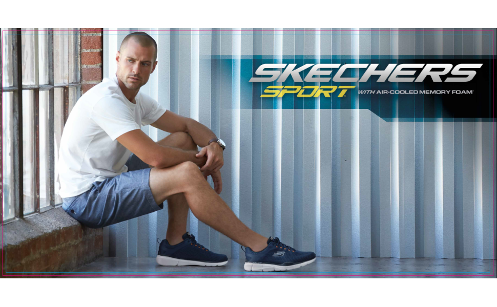 Mens skechers performance sport active comfort lifestyle casual athlesuire shoe