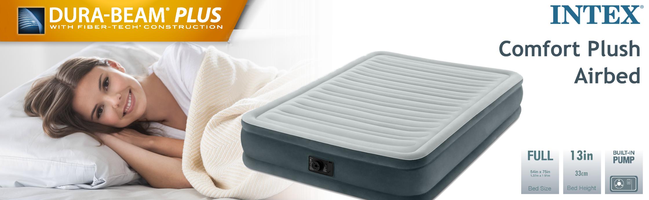 Amazon Com Intex Comfort Plush Mid Rise Dura Beam Airbed