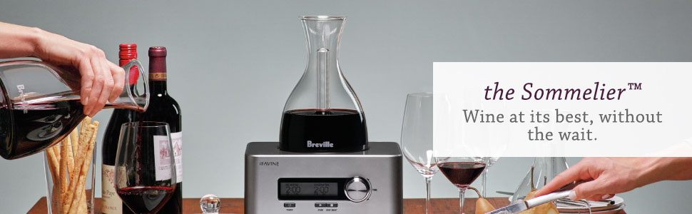 wine decanter, decanter aerator, My Sommelier Electric Wine Aerating Decanter, Winebreather Carafe