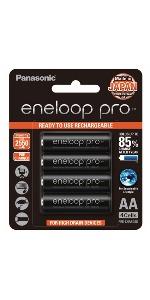 AA Eneloop Pro Rechargeable Batteries