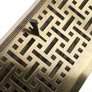 baseboard floor register