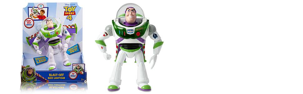 Figurine PVC Pixar//Disney Toy Story Mattel Buzz l/'Eclair ailes Neuf