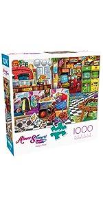 Pixels & Pizza - 1000 Piece Jigsaw Puzzle