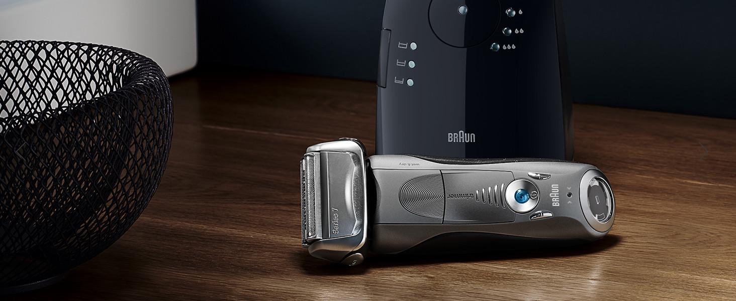Braun Series 7 7898 cc - Afeitadora eléctrica de lámina para hombre, en húmedo y seco