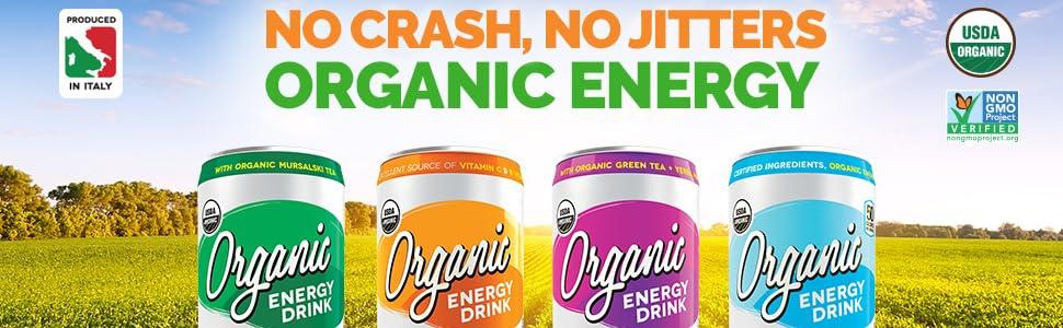 dark dog organic, no crash, no jitters, organic energy drink, organic caffeine, guarana, yerba mate