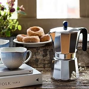 Monix Induction Express - Cafetera italiana inducción, aluminio, capacidad 12 tazas, color plata: Amazon.es: Hogar