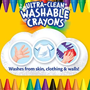 crayola washable crayons, washable crayons, crayola crayons, ultra clean washable crayons