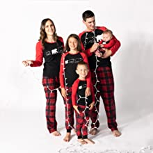 Family wearing JumpOff Jo Matching Family Pajama Sets