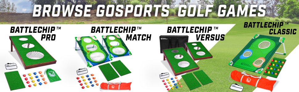 gosports battlechip golf chipping games backyard lawn golfer gifts home practice trainer aids father