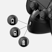 3-level battery charge status indicators