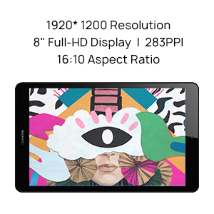 8 ich tablet with full hd display