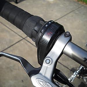 SRAM 3.0 Gripshift Bicycle Twist Shifter-Left-3 Speed-1 To 1-Black-Hybrid//Mtb