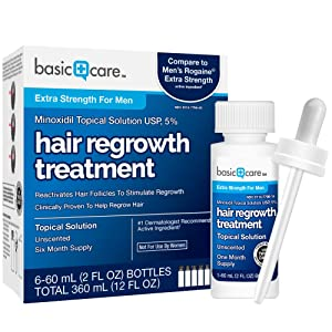 Minoxidil Topical Solution USP 5% Hair Regrowth Treatment for men