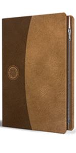 Biblia RVR60 Símil piel canela con cremallera