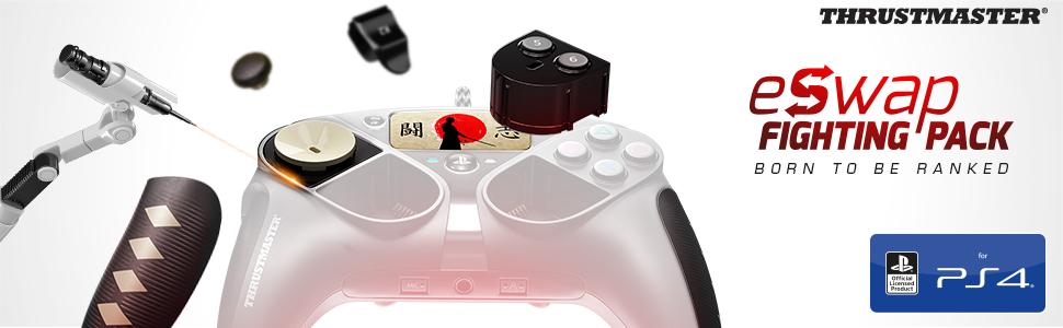 Thrustmaster eSwap Fighting Pack – Pack de 6 módulos adicionales en tonos oscuros para el eSwap Pro Controller (PS4 / PC): Amazon.es: Videojuegos