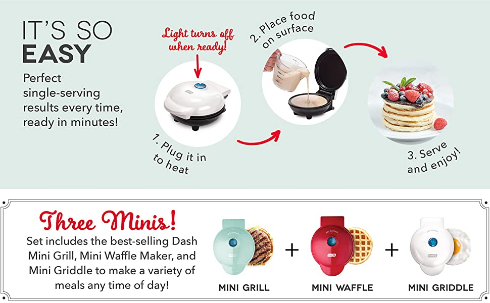 waffle; griddle; grill; dash; mini; makers; iron