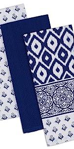 Blue Dishtowel, Tunisia Blue, Tunisia Dishtowel, Tunisia Blue, Blue Kitchen