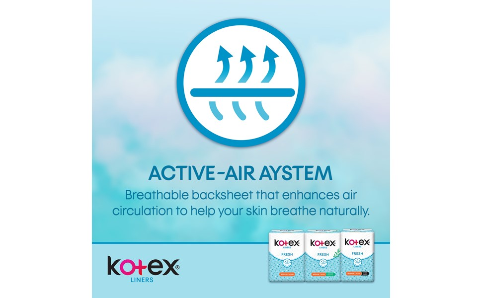 Kotex Fresh Liners - breathable