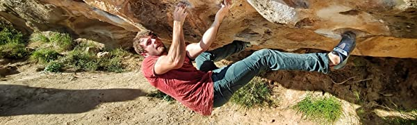 Jeanstrack Roca Jeans Pantalón de Escalada-Trekking, Hombre