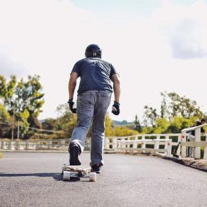 Drop-through complete longboard skateboard getaway beach wave vacation
