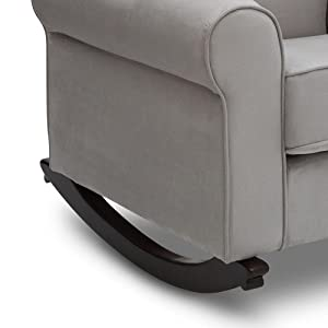 Awesome Delta Children Rowen Nursery Rocking Chair Graphite Beatyapartments Chair Design Images Beatyapartmentscom