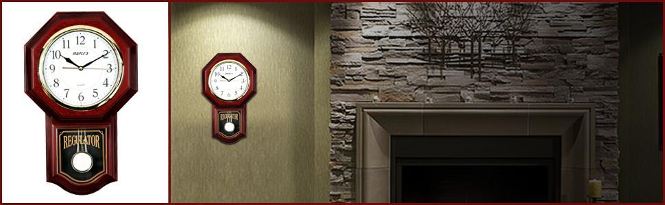 view larger - Pendulum Wall Clock