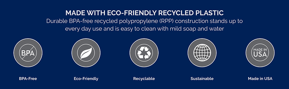 recycled recyclable plastic polypropylene rpp sustainable bpa free certified made in usa