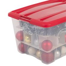 Boîte de rangement en plastique transparent édition Spécial Noël New Top Box X-Mas par Iris Ohyama