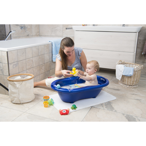 Quecksilberfreie Messfl/üssigkeit Dunkelblau 20057026501 Royal Blue Pearl TOP Ab 0 Monate Rotho Babydesign Badethermometer