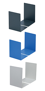 ブックエンド ブルー ライトグレー ダークグレー L型