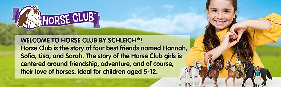 schleich, horse club, playset, horses, educational, figurine, gift for boys, gift for girls