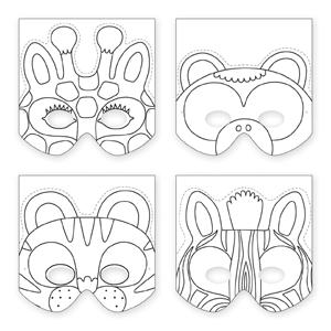 Mudpuppy Jungle Animals Make-a-Mask